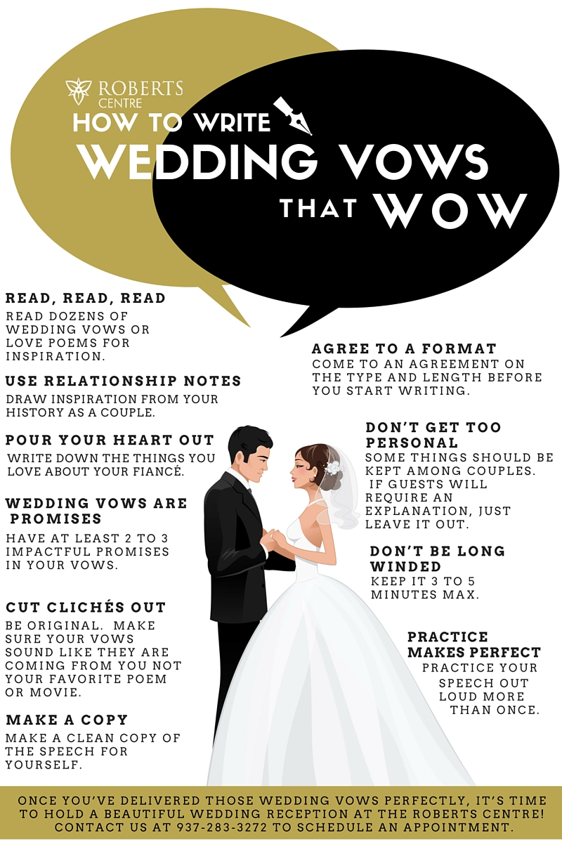 Wedding Vows That Wow 1 Roberts Centre