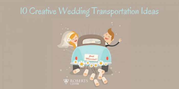 creative wedding transportation